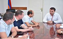 Մարզպետ Գագիկ ՄԻրիջանյանն ընդունել է «Վեոլիա Ջուր» ընկերության գործառնական տնօրենին