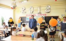 Մարզպետ Գագիկ Միրիջանյանն այցելել է Արմավիրի 8-րդ և 5-րդ դպրոցներ