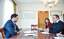 Համբարձում Մաթևոսյանն ընդունել է <<Գյուղական Տնտեսական Զարգացում-Նոր Տնտեսական Հնարավորություններ>> ծրագրի մոնիտորինգի թիմի ղեկավարին