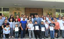 Մարզպետն ընդունել է <<Լավագույն մարզական ընտանիք>> մրցույթի մարզային փուլի 4 տարիքային խմբում հաղթող ճանաչված ընտանիքներին