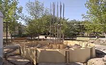 Նորավանում Արցախյան 44-օրյա պատերազմում զոհվածների հիշատակը հավերժացնող հուշարձան է կառուցվում