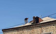 Հացիկ համայնքում վերանորոգվում է 1950 թվականին կառուցված  բազմաբնակարան շենքի տանիքը