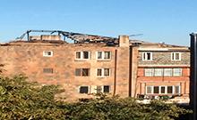 Ընթացքի մեջ է Բաղրամյանի (Բաղրամյանի տ.) համայնքի Արցախի փողոցի 39 շենքի տանիքի վերանորոգումը